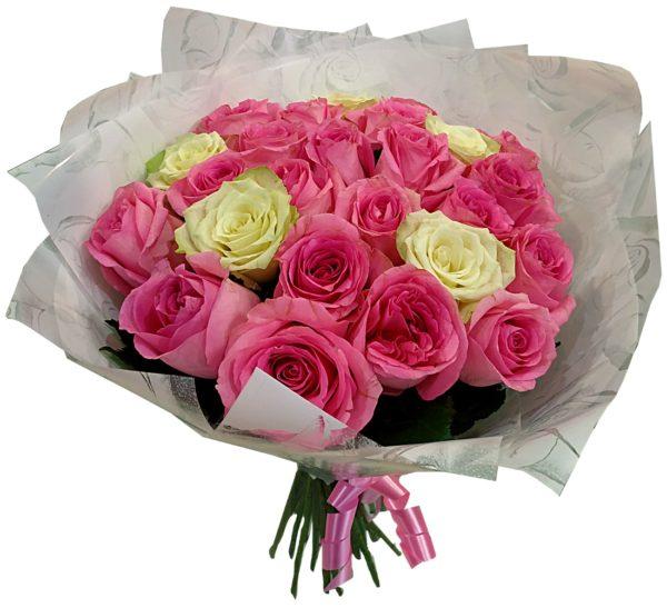 buket iz 25 roz 1900